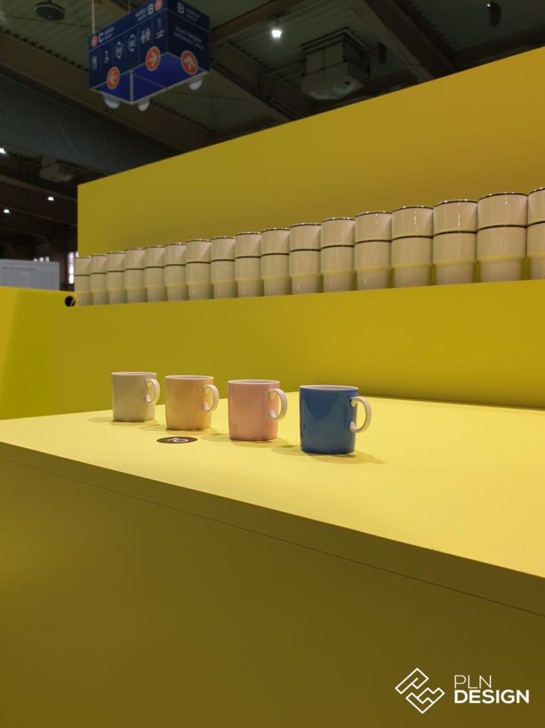 Ceramiczne kubki na wystawie 195x: How old is modern podczas Arena Design 2019