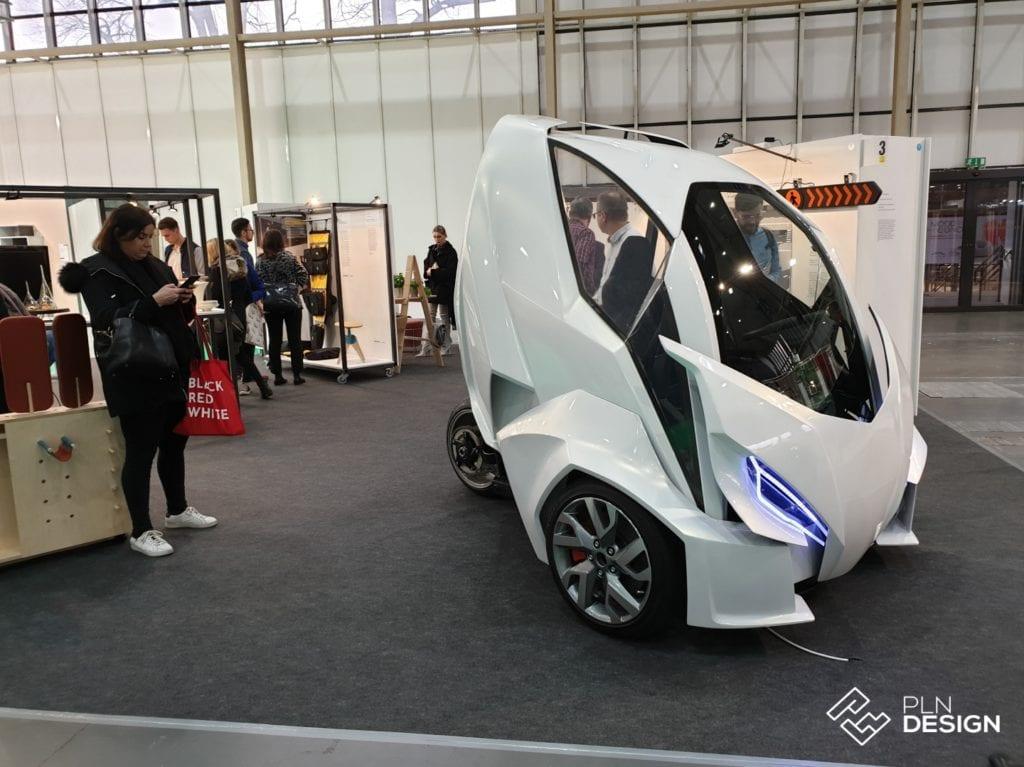 Elektryczny samochód prezentowany na Arena Design 2019