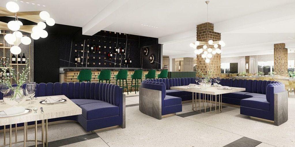 Katarzyna Kraszewska Architektura Wnętrz - Hotel Radisson Blu w sercu Gór Izerskich - bar hotelowy