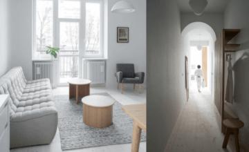 Mieszkanie przy parku Łazienki Królewskie – Loft Kolasiński