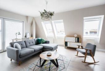 Mieszkanie na poddaszu projektu Besign Studio
