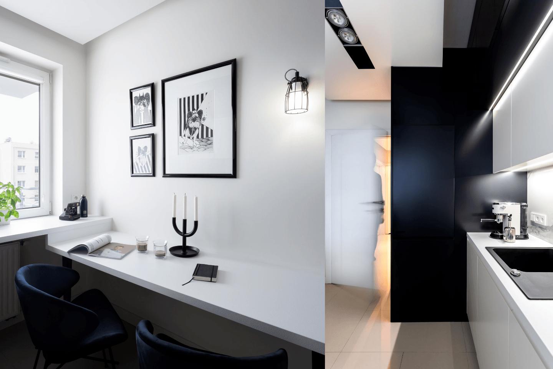 Monochromatyczna Kuchnia W Bloku Projektu Besign Studio Pln Design