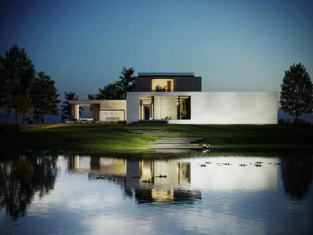 Dom nad wodą zaprojektowany przez JMW Architekci