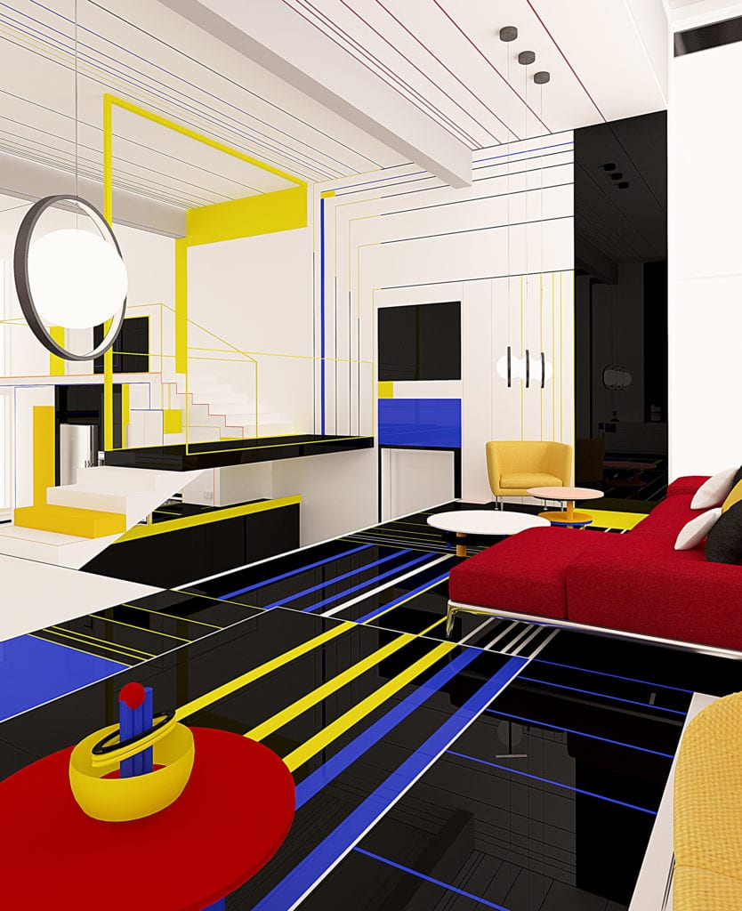 Brani & Desi i apartament z abstrakcyjnymi obrazami