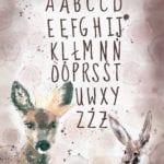 Plakat z alfabetem projektu MashTo