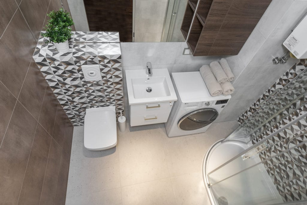 Łazienka w mieszkaniu dla młodej pary