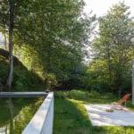 geometryczny dom, basen