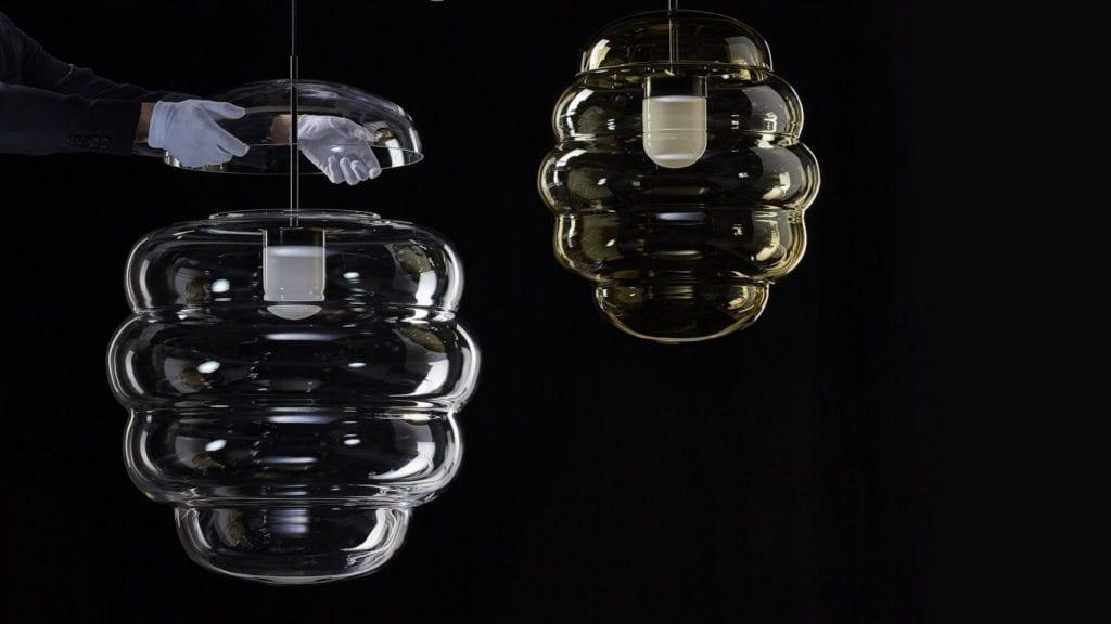 Kryształowe lampy Blimp na Milan Design Week
