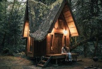 Ręcznie wykonane leśne domki Jacoba Witzlinga