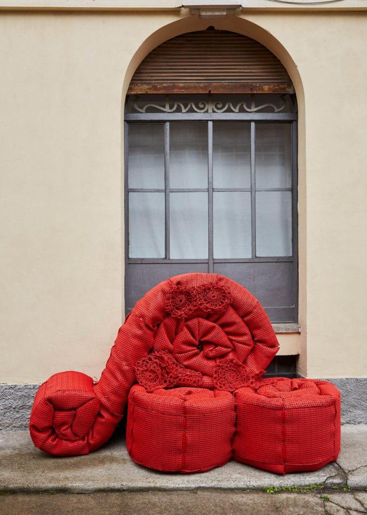 instalacja w Mediolanie od marki Melissa