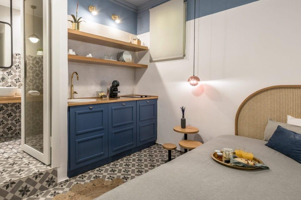 Aneks kuchenny w Hotelu Dom Anthemion projektu studia Normless w Kawali
