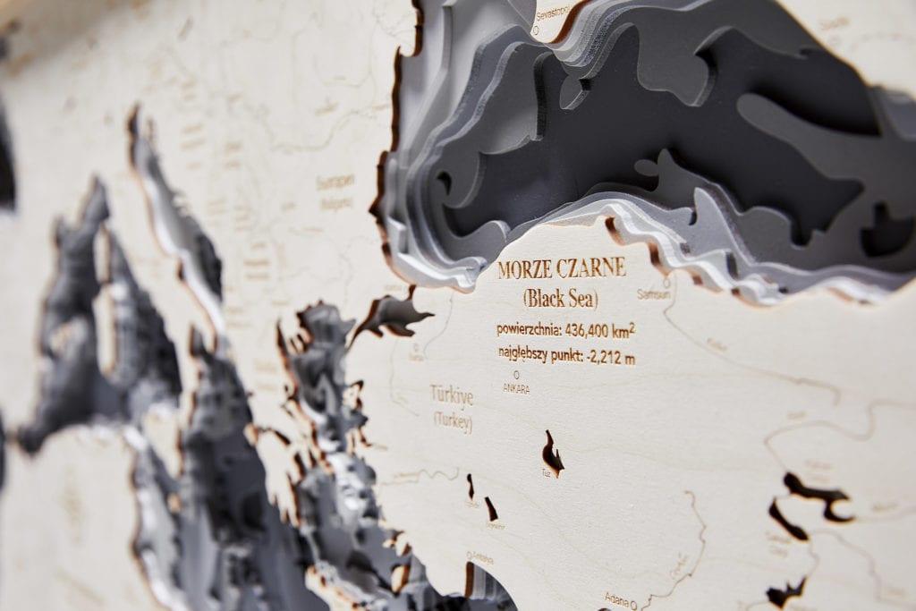 Trójwymiarowa Mapa Morska - Morze Śródziemne - Avocado Pracownia Twórcza