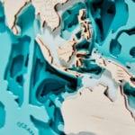 Trójwymiarowa Mapa Morska - Świat - Avocado Pracownia Twócza