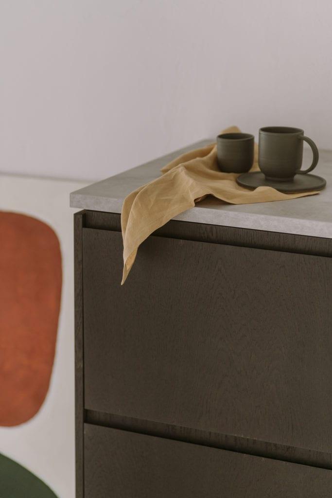 Ciemno brązowe fronty do systemu METOD IKEA od marki FRØPT - kolekcja Norwegian Wood