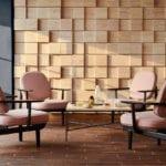 Krzesło projektu Jamie Hayona z różowym obiciem