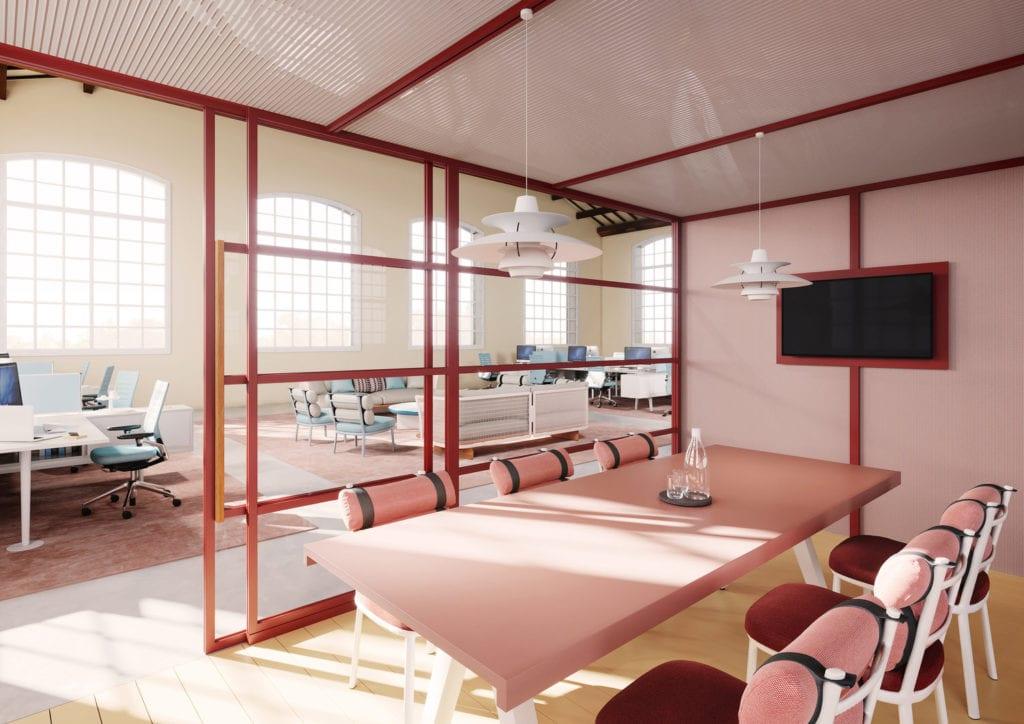 Powierzchnie biurowe – pawilony Kettal Group