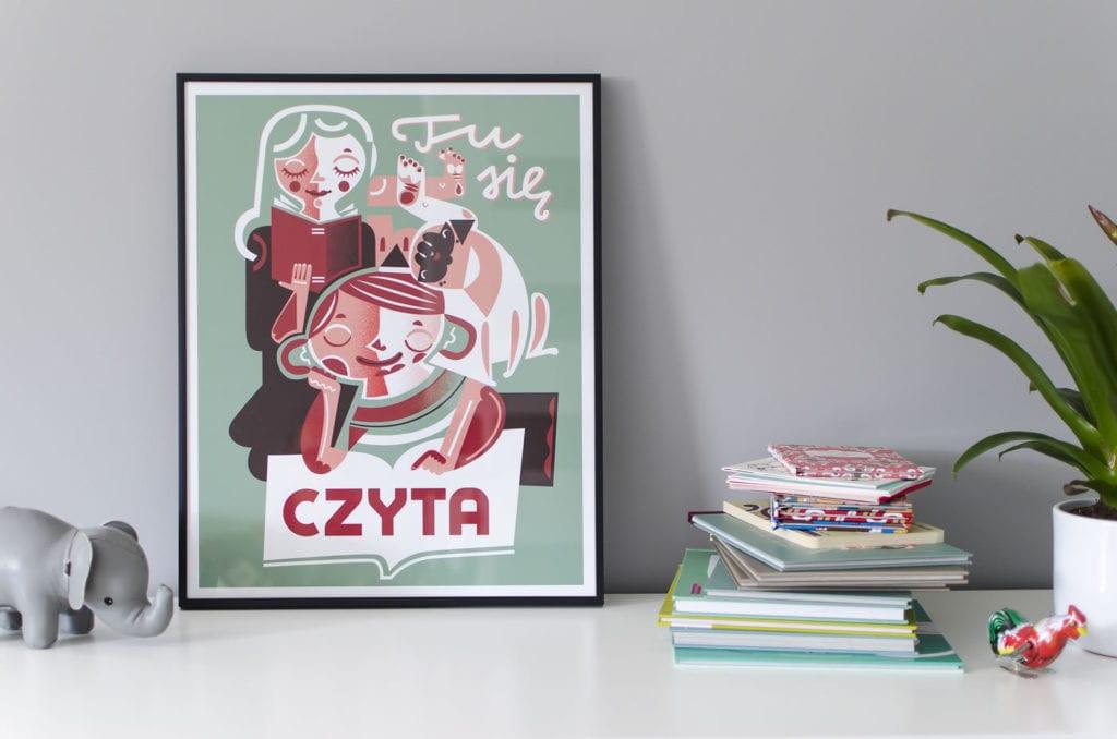 """Propozycja prezentu na dzień matki - Nioska i plakat """"Tu się czyta"""""""