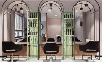 74studio i projekt salonu fryzjerskiego w Białymstoku