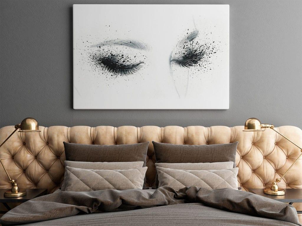 Vaku-dsgn obrazy drukowane na płótnie - obraz z kobiecymi oczami