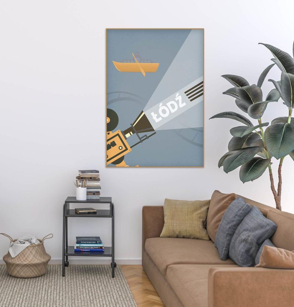 Plakaty Hunny Bagder inspirowane podróżami - plakat Łódź