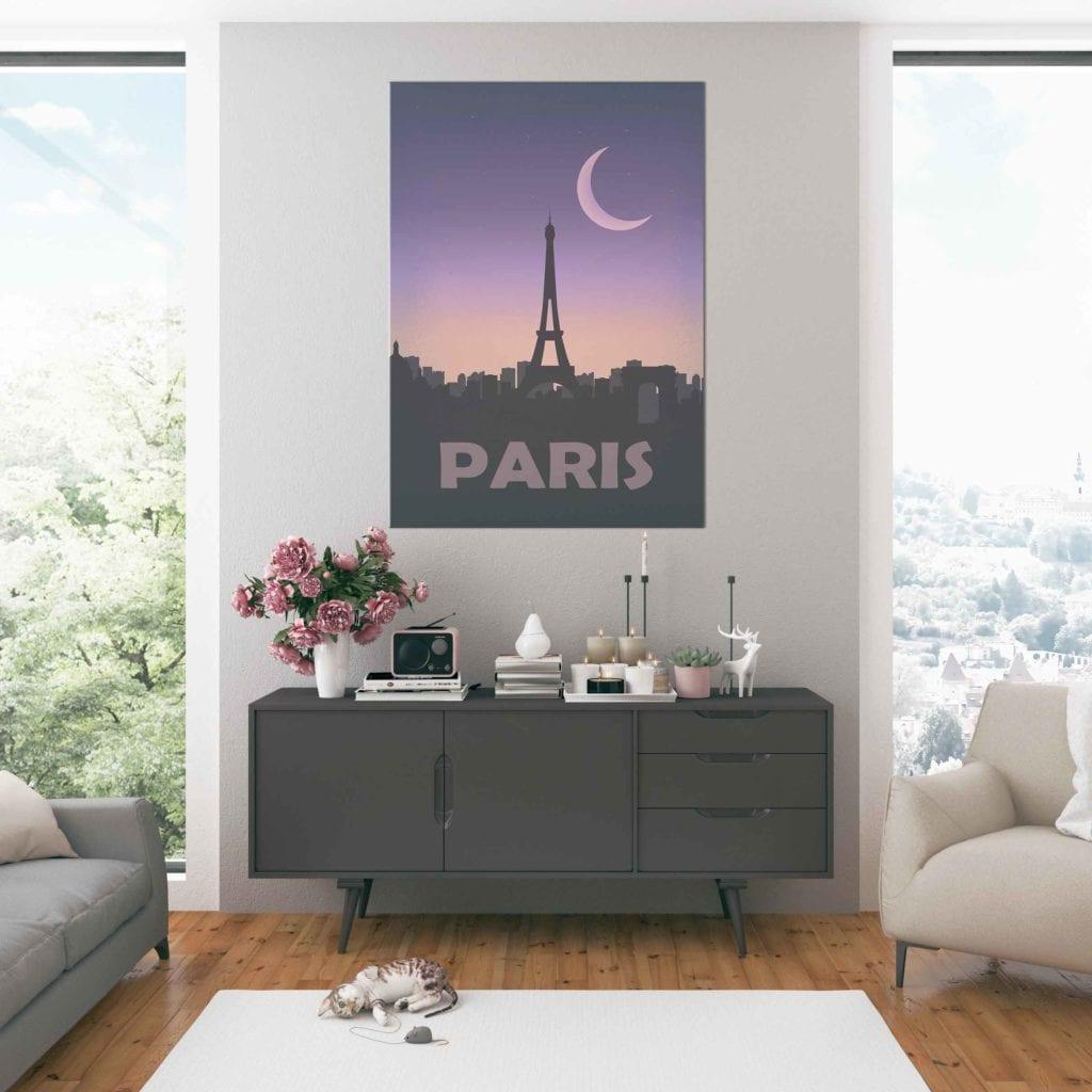 Plakaty Hunny Bagder inspirowane podróżami - plakat Paris