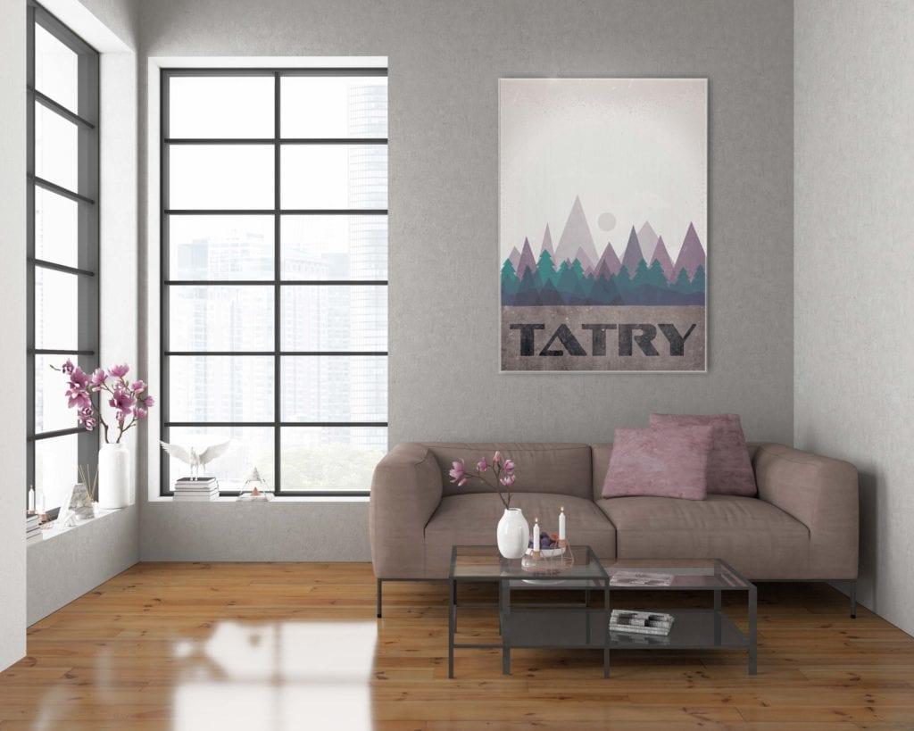 Plakaty Hunny Bagder inspirowane podróżami - plakat Tatry