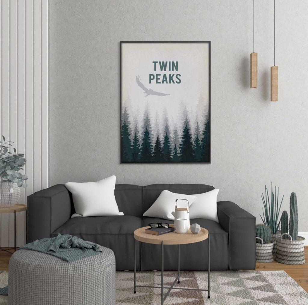 Plakaty Hunny Bagder inspirowane podróżami - plakat Twin Peaks