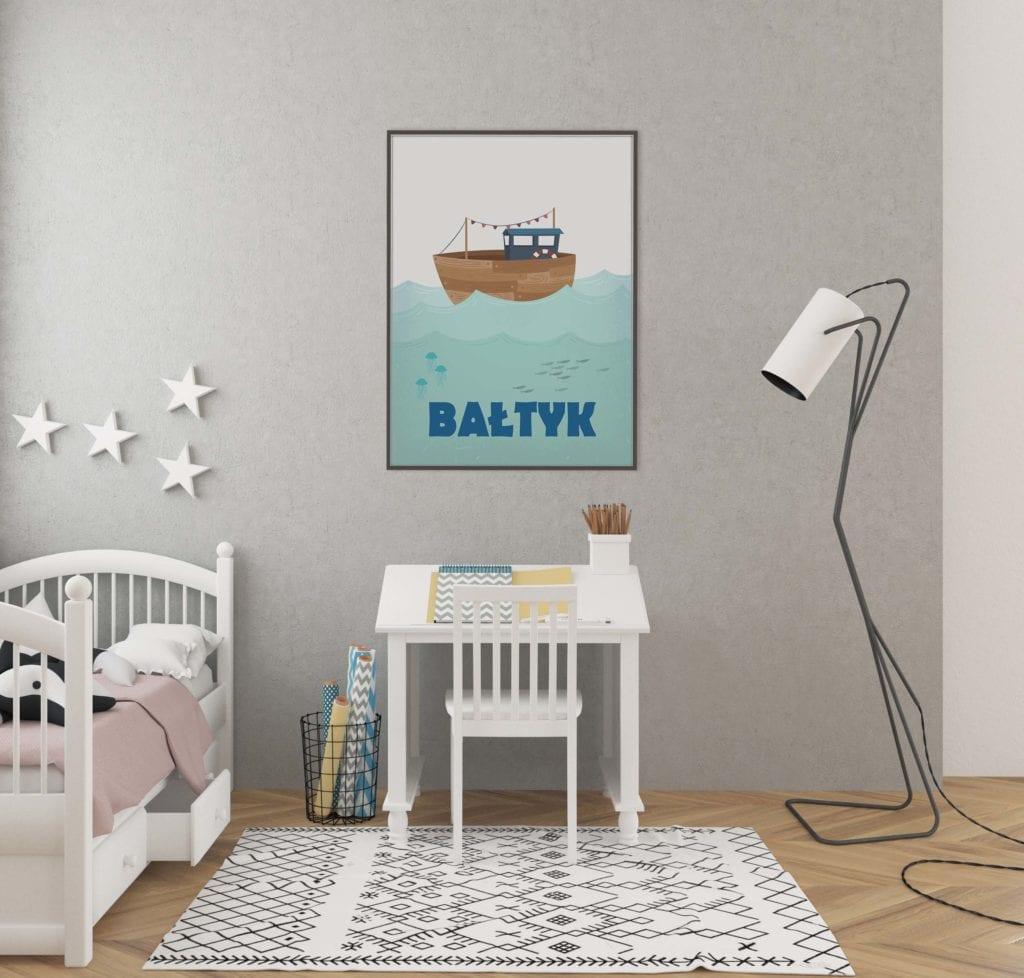 Plakaty Hunny Bagder inspirowane podróżami - plakat Bałtyk