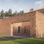 Światłocieniowa fasada z cegły w projekcie pracowni Toprojekt