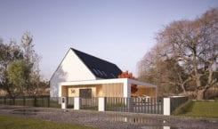 Stodoła w nowoczesnym stylu od 3XB Architekci