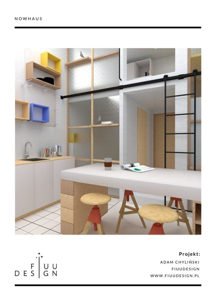 Adam Chyliński Fiuudesign projekt wyróżniony w konkursie Homebook MINImum powierzchni MAXImum funkcjonalności