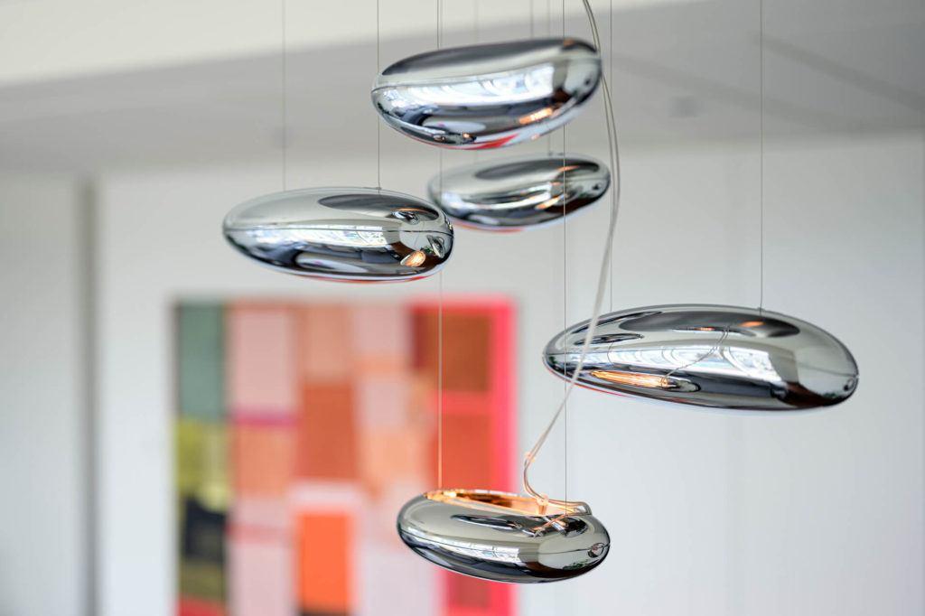 Dekoracje w apartamencie GLACE projektu pracowni AKSONOMETRIA