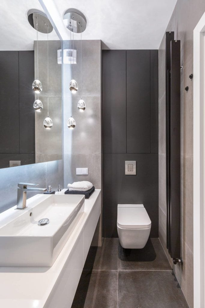 Łazienka w mieszkaniuprojektu pracowni Decoroom