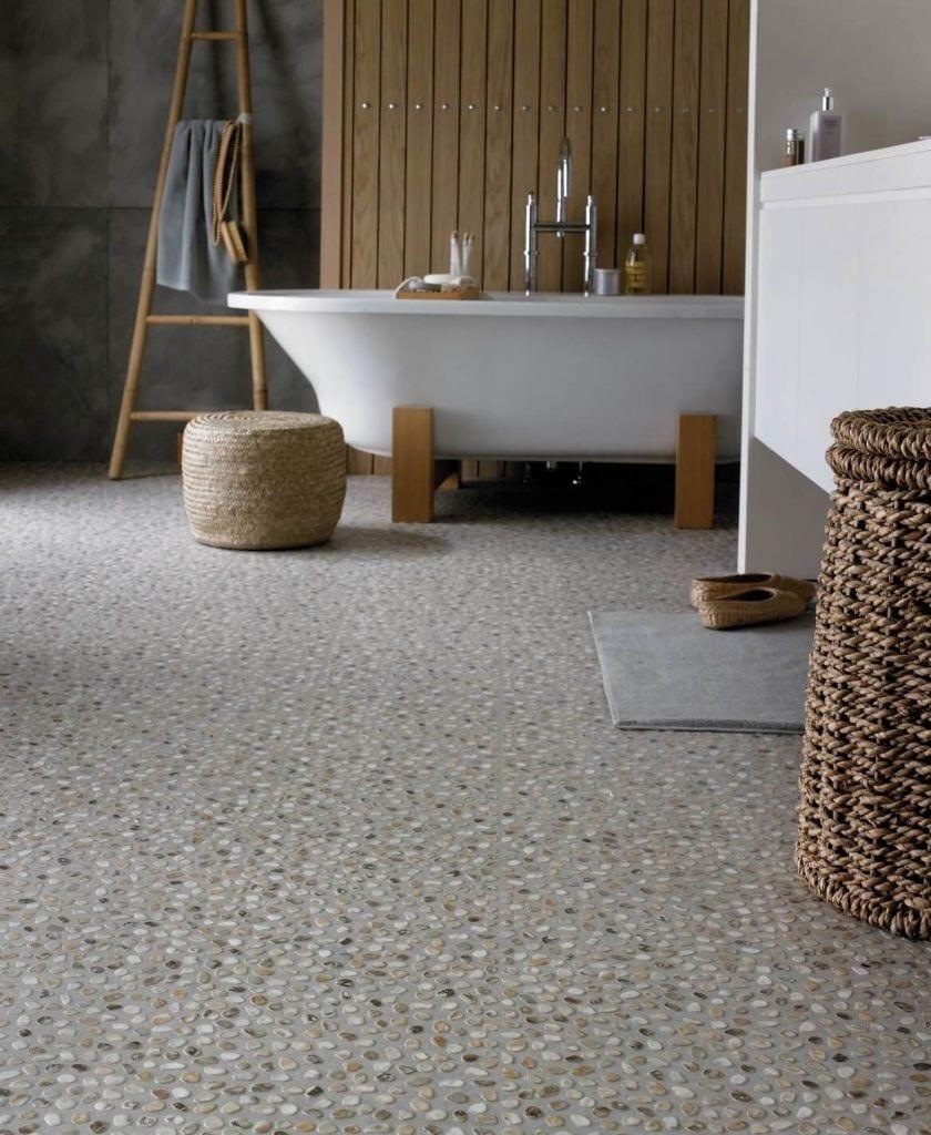 Łazienka z winylową podłogą Designflooring