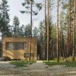 Pracownia 81.waw.pl i Dom Pień ukryty w lesie