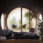 Wnętrze domu w kształcie peryskopu projektu Studio Precht