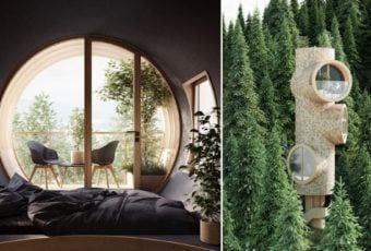 Studio Precht i Bert, czyli piękne domki w lesie