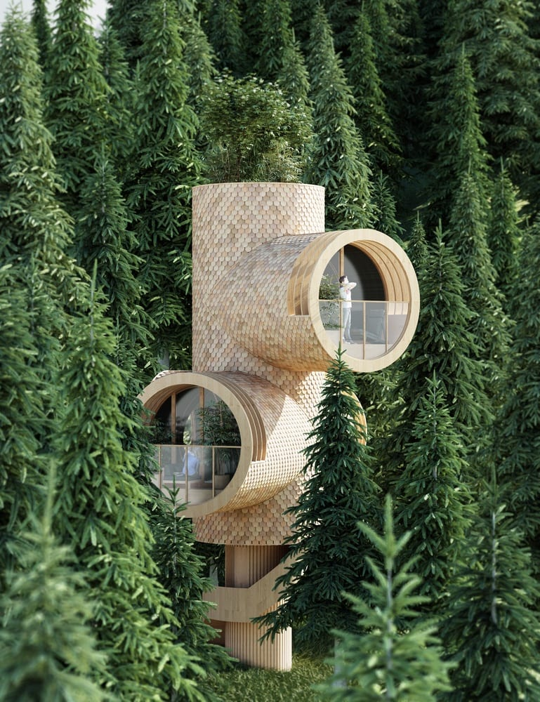 Domek w kształcie peryskopu projektu pracowni Studio Precht