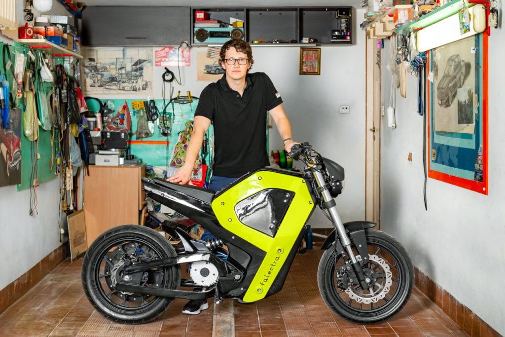 Falectra - pierwszy polski elektryczny motocykl projektu Piotra Krzyczkowskiego