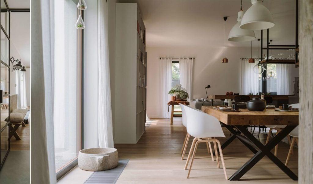 Piękna drewniana podłoga w mieszkaniu projektu Studio O
