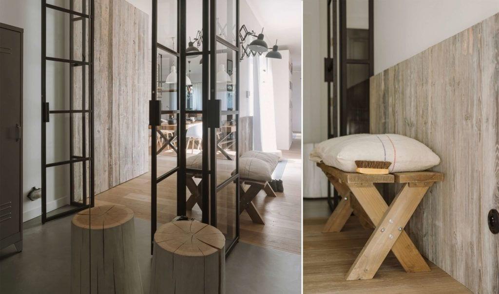 Drewniana podłoga w mieszkaniu dla pary z dwójką dzieci projektu Studio O