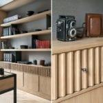Drewniana komoda w salonie
