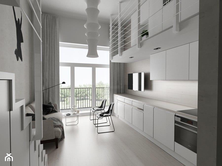 Jasna kuchnia - projekt Piotr Skorupski Studio Architektury