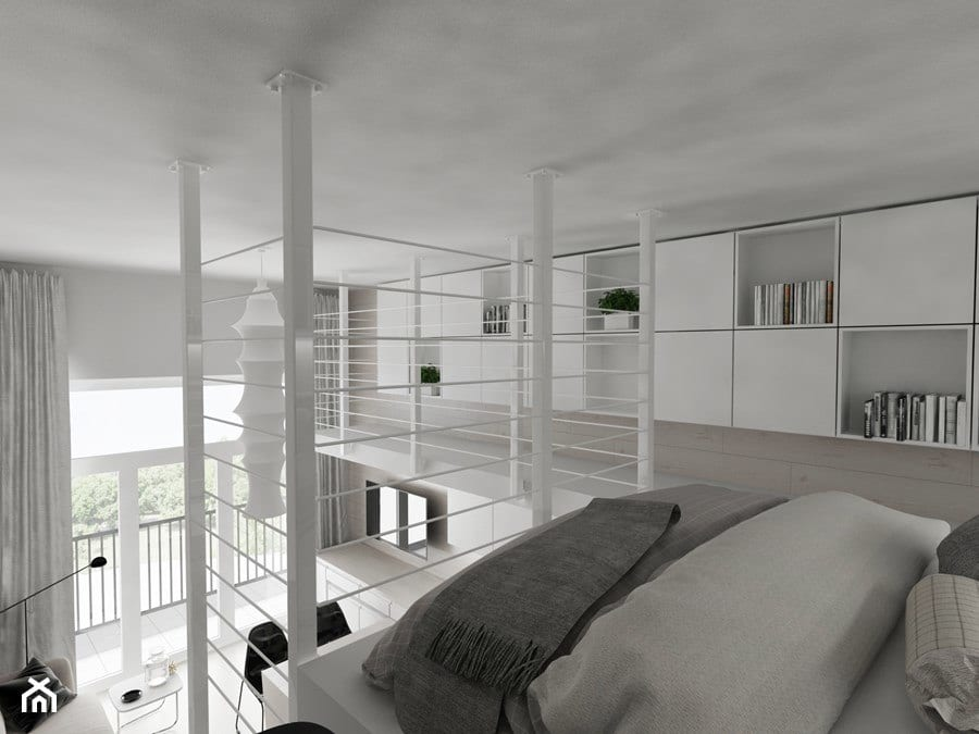 Jasna antresola - projekt Piotr Skorupski Studio Architektury