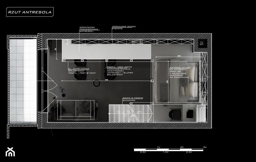 Rzut mieszkania - projekt Piotr Skorupski Studio Architektury