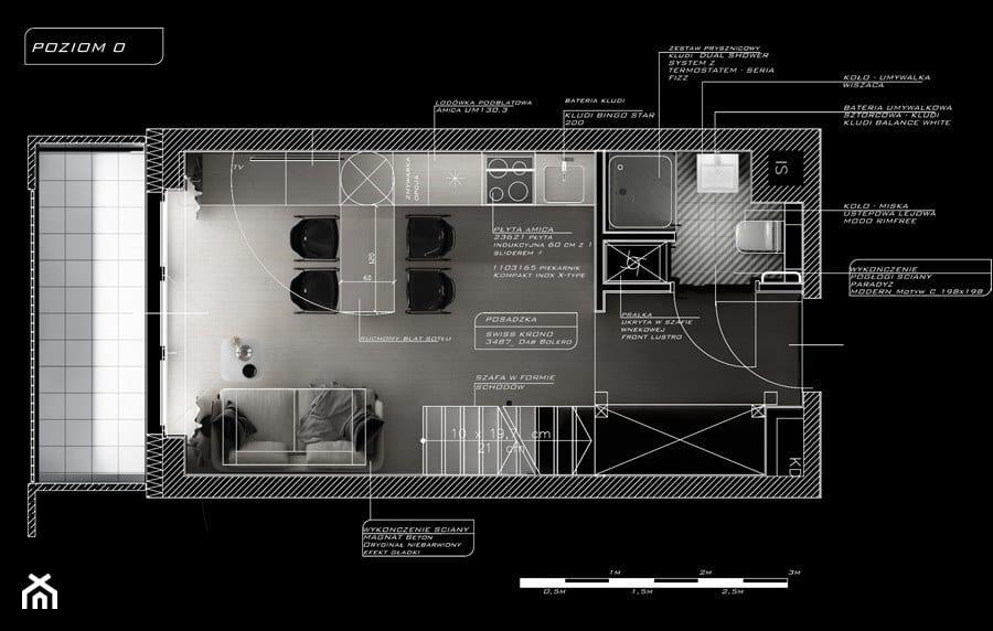 Rzut mieszkania projektu Piotra Skorupskiego Studio Architektury