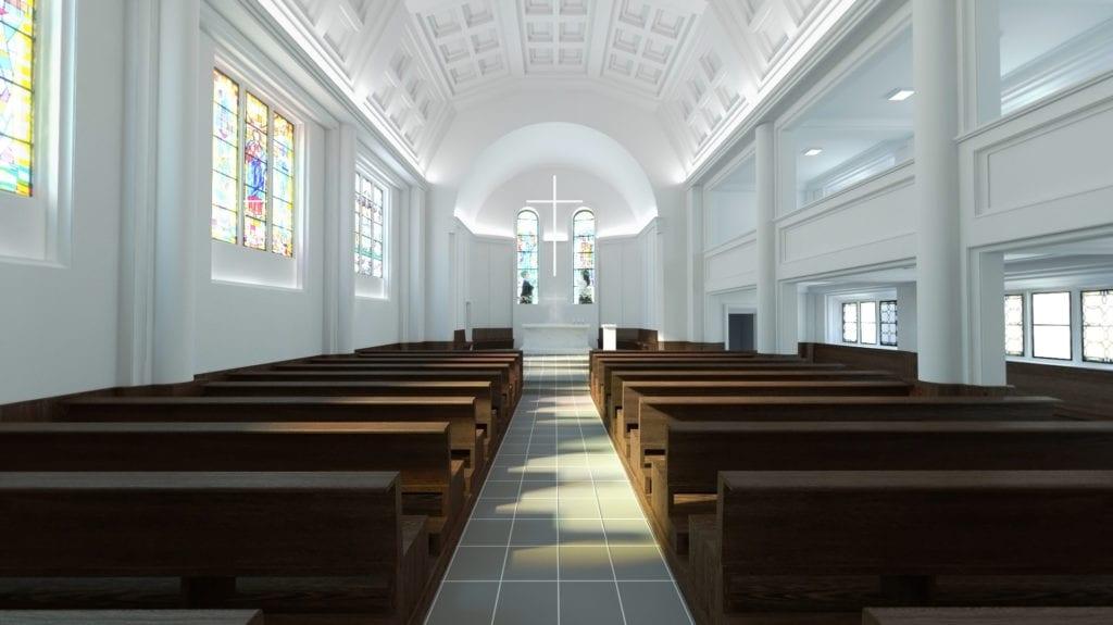 Rewitalizacja kościoła świętego Józefa Oblubieńca w Żórawinie projektu Hanczar Studio #2