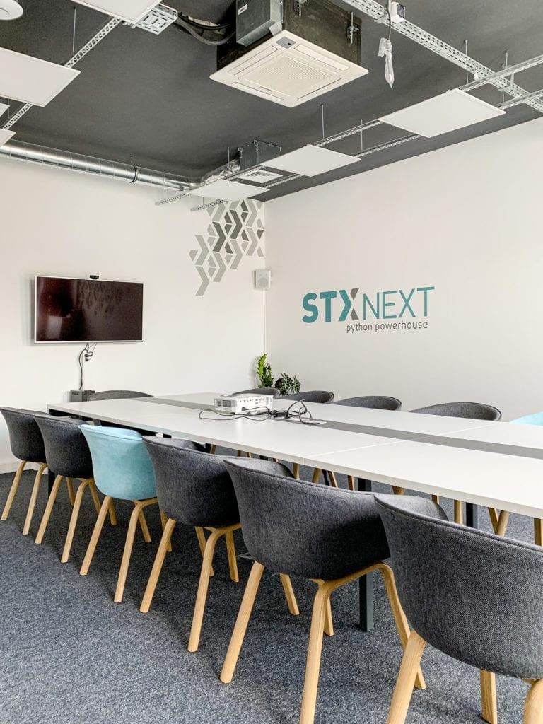 Wnętrza biura software house'u STX NEXT w Poznaniu na Starym Mieście