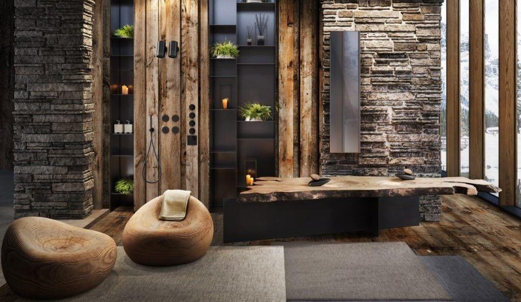 Designerska armatura Gessi z serii Equilibrio inspirowana pięknem natury - bateria w orientalnej łazience