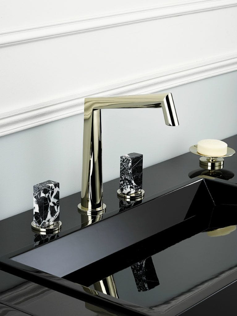 Designerska armatura marki THG Paris - złota armatura